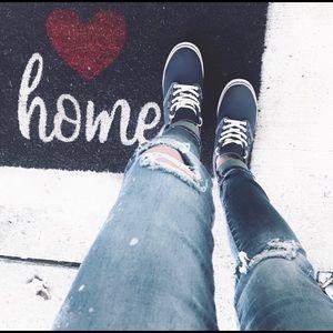 """""""VANS"""" Super Cute 💙 Blue & white Canvas Sneakers"""